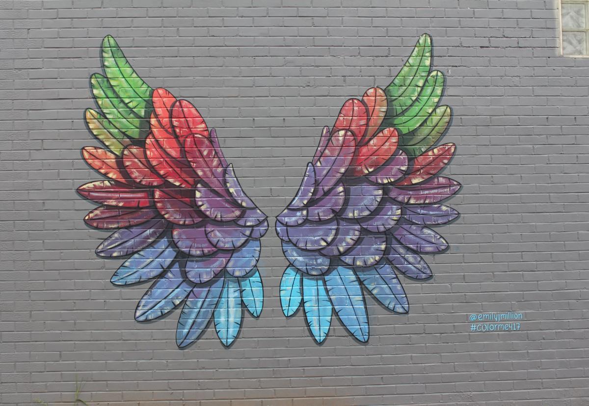 Rainbow Wings Mural