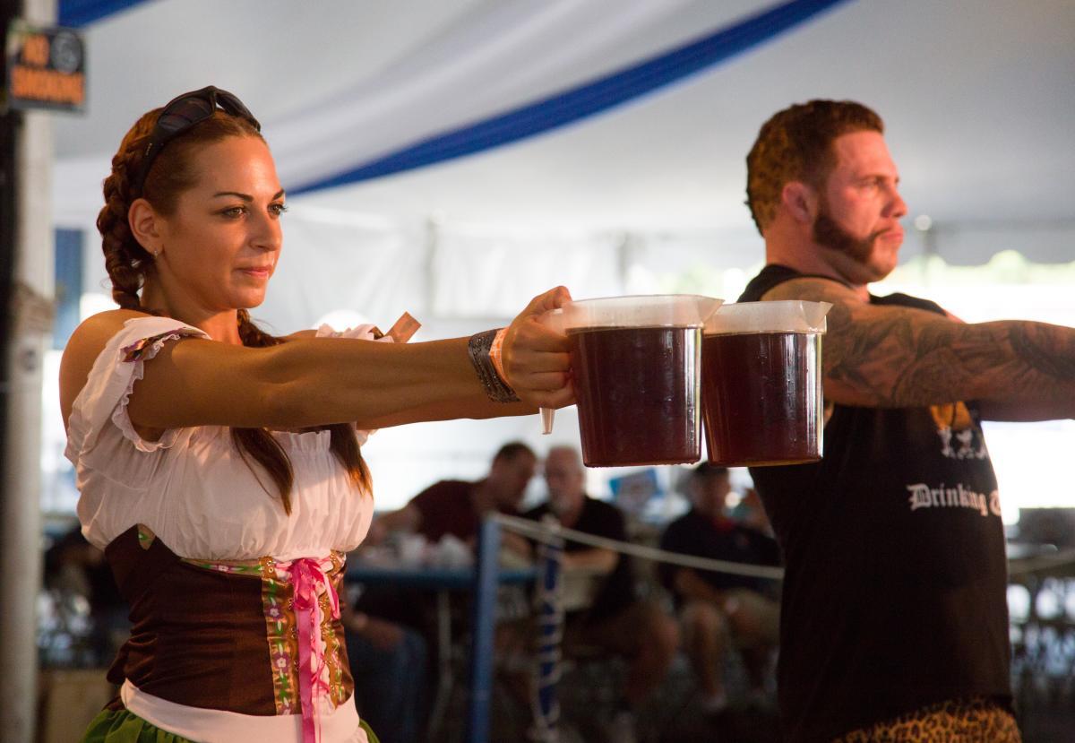 Steinholding Competition at Oktoberfest Bethlehem | Lehigh Valley, PA