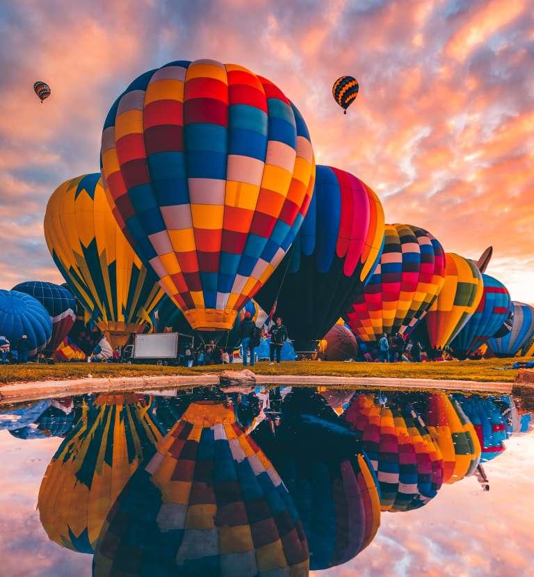 Balloon Reflection, Photograph by Ian Beckley, New Mexico Magazine