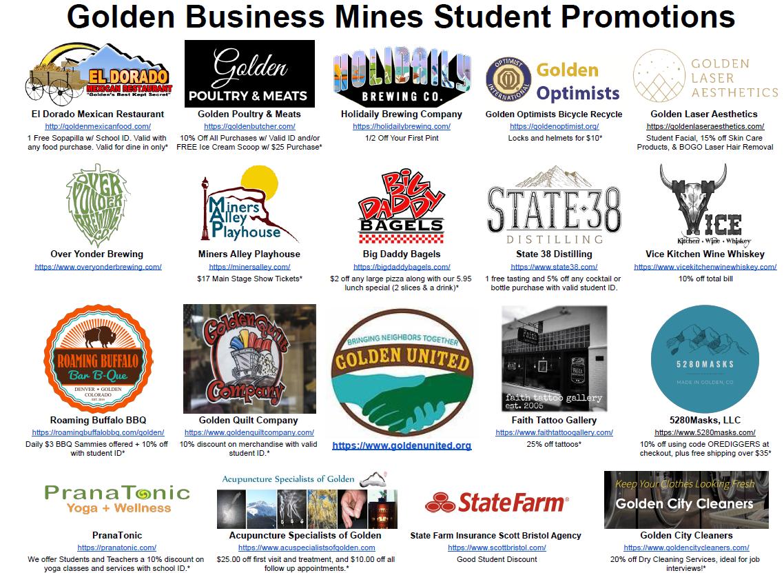 Mines Student Discounts