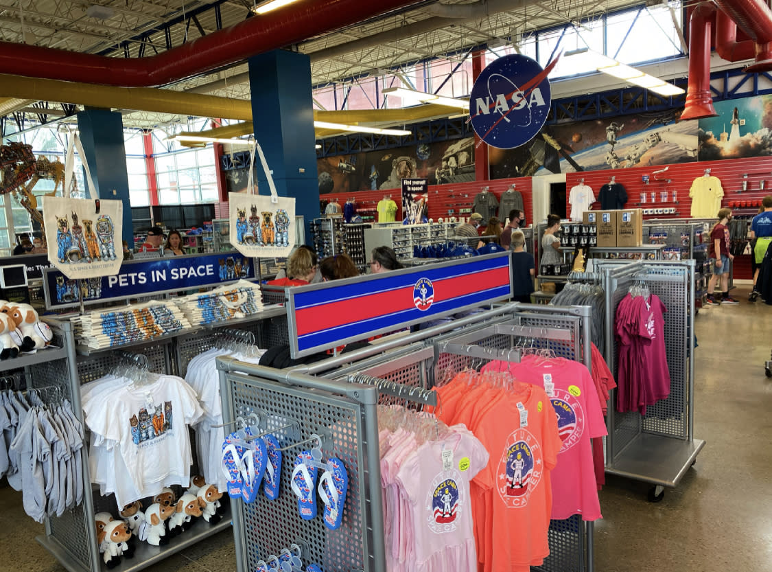 space and rocket center souvenir shop