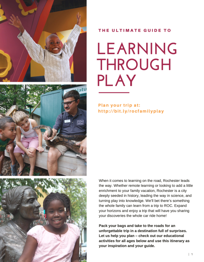 Rochester Family - Learning Through Play Itinerary