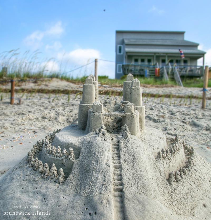 A sandcastle in Oak Island, NC.