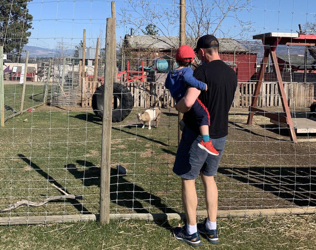 Off the Grid Winery - Duane with Child