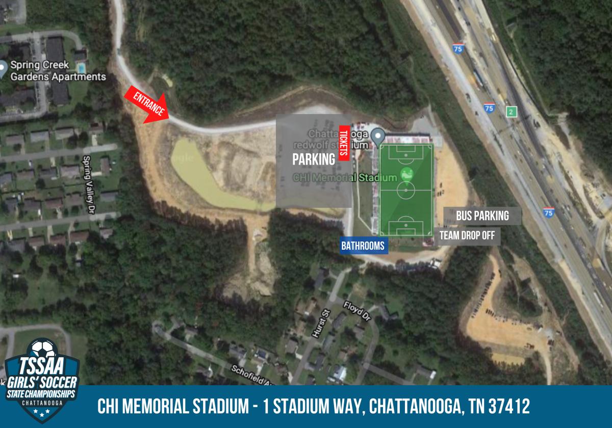 map of CHI Memorial Stadium