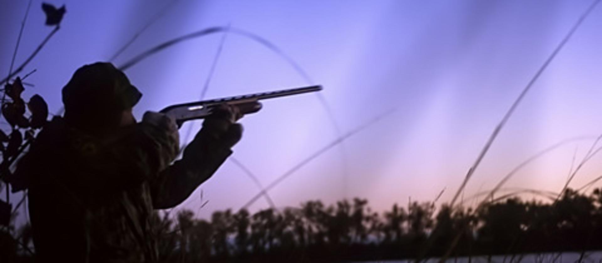 Hunter at sunrise