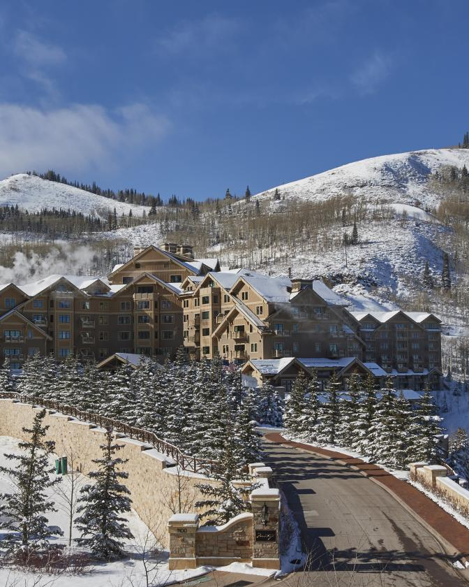 View of Montage Deer Valley with Deer Valley Resort in the background