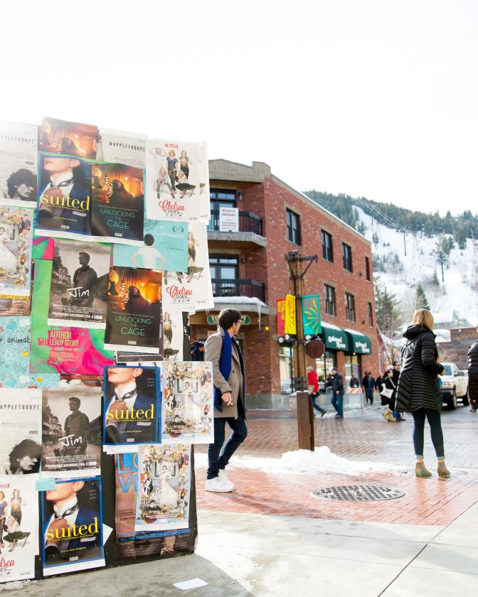 Sundance Film Posters on Main Street