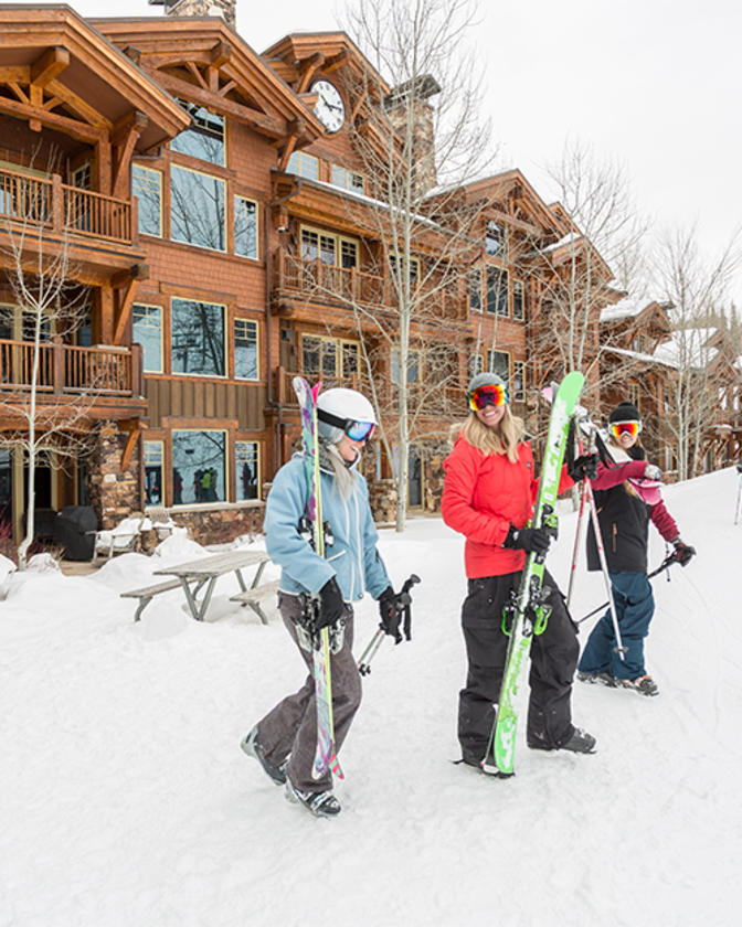 Guest at Deer Valley in Slopeside Lodging