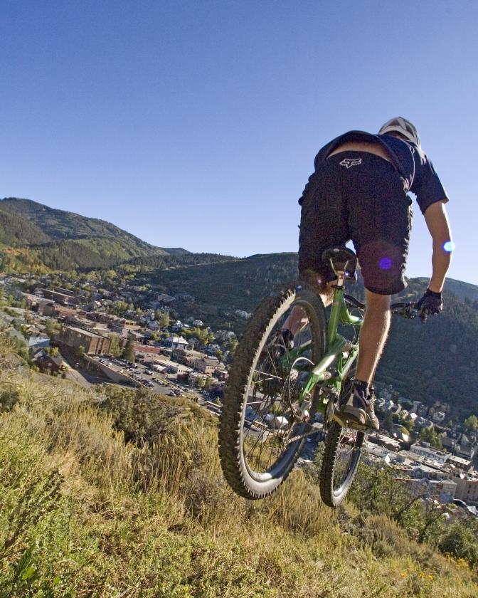 Mountain Biking Above Historic Park City