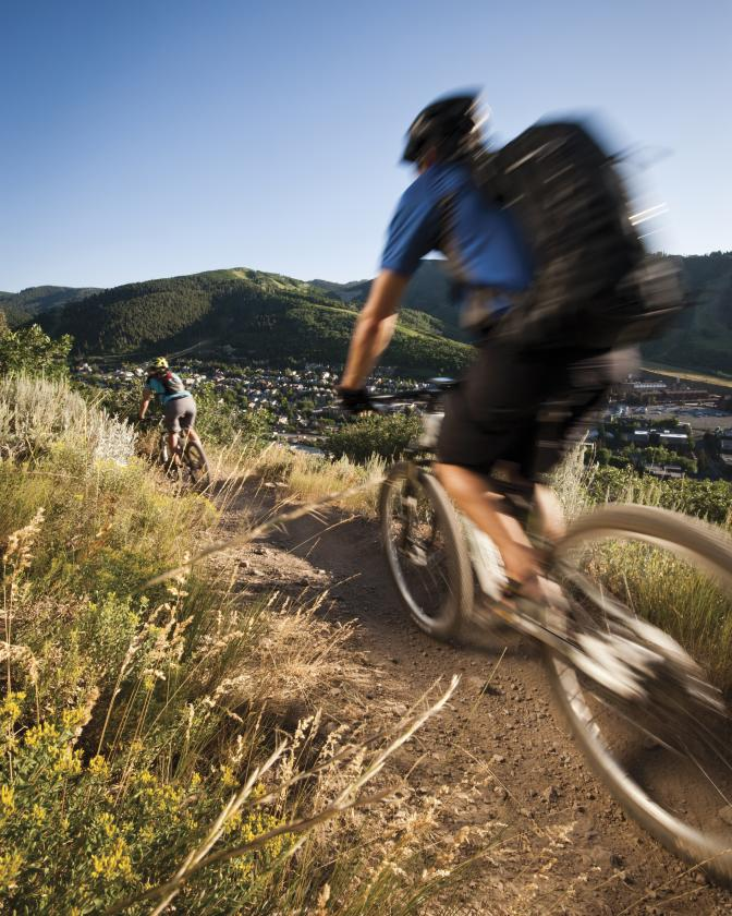 Mountain Biking Above Historic Main Street