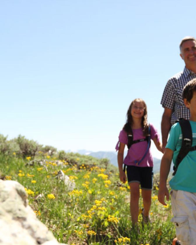 A Family Hiking in Park City, Utah