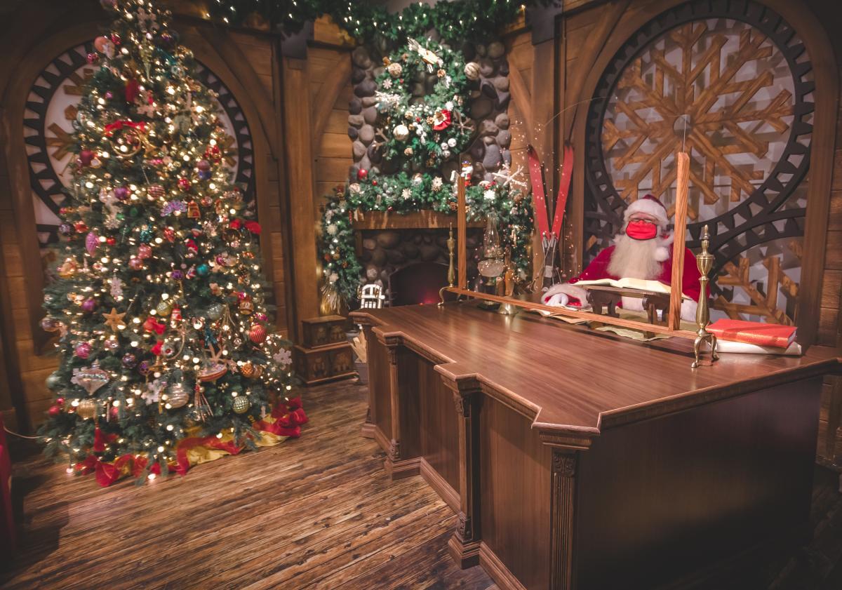 Santa at Desk