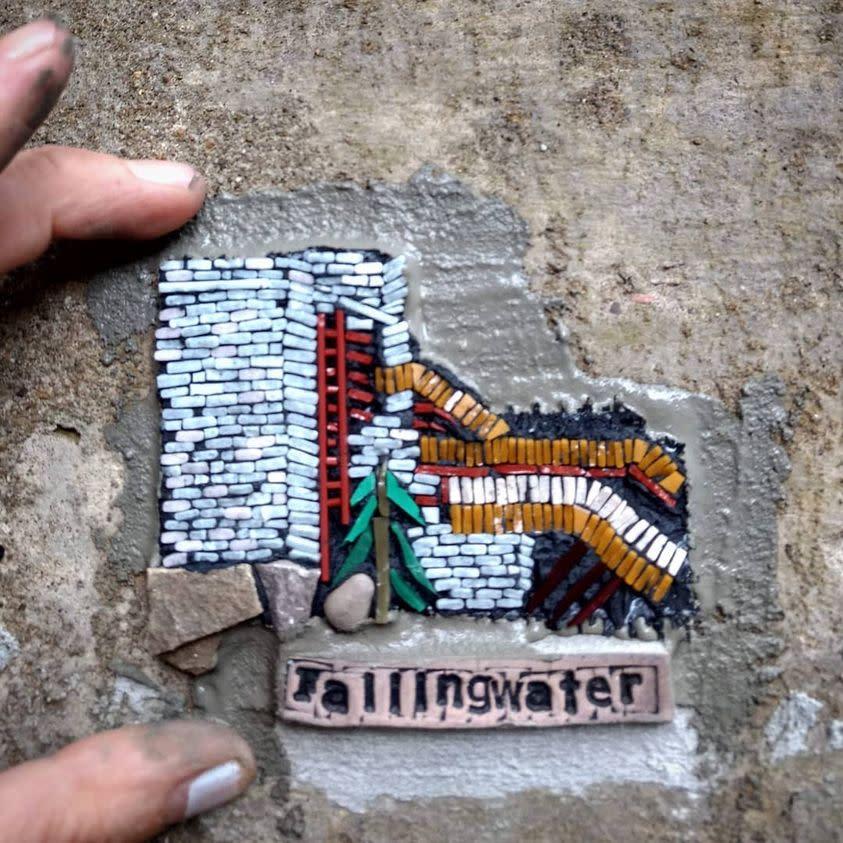Fallingwater mosaic, Sager Mosaics
