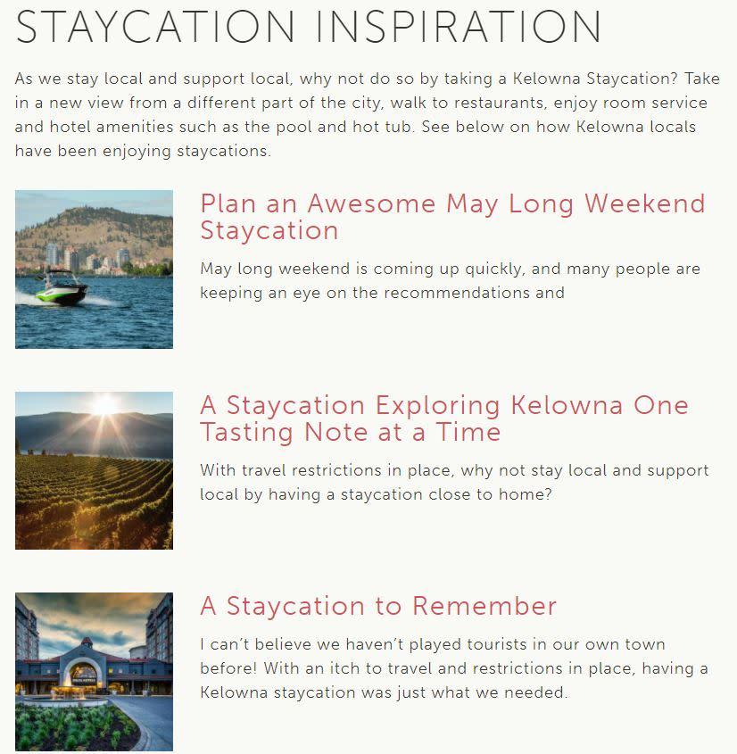 Staycation Series Screenshot