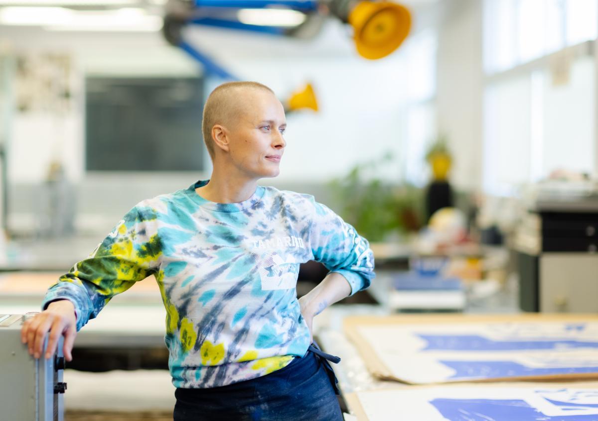 Master printer and workshop manager Valpuri Remling