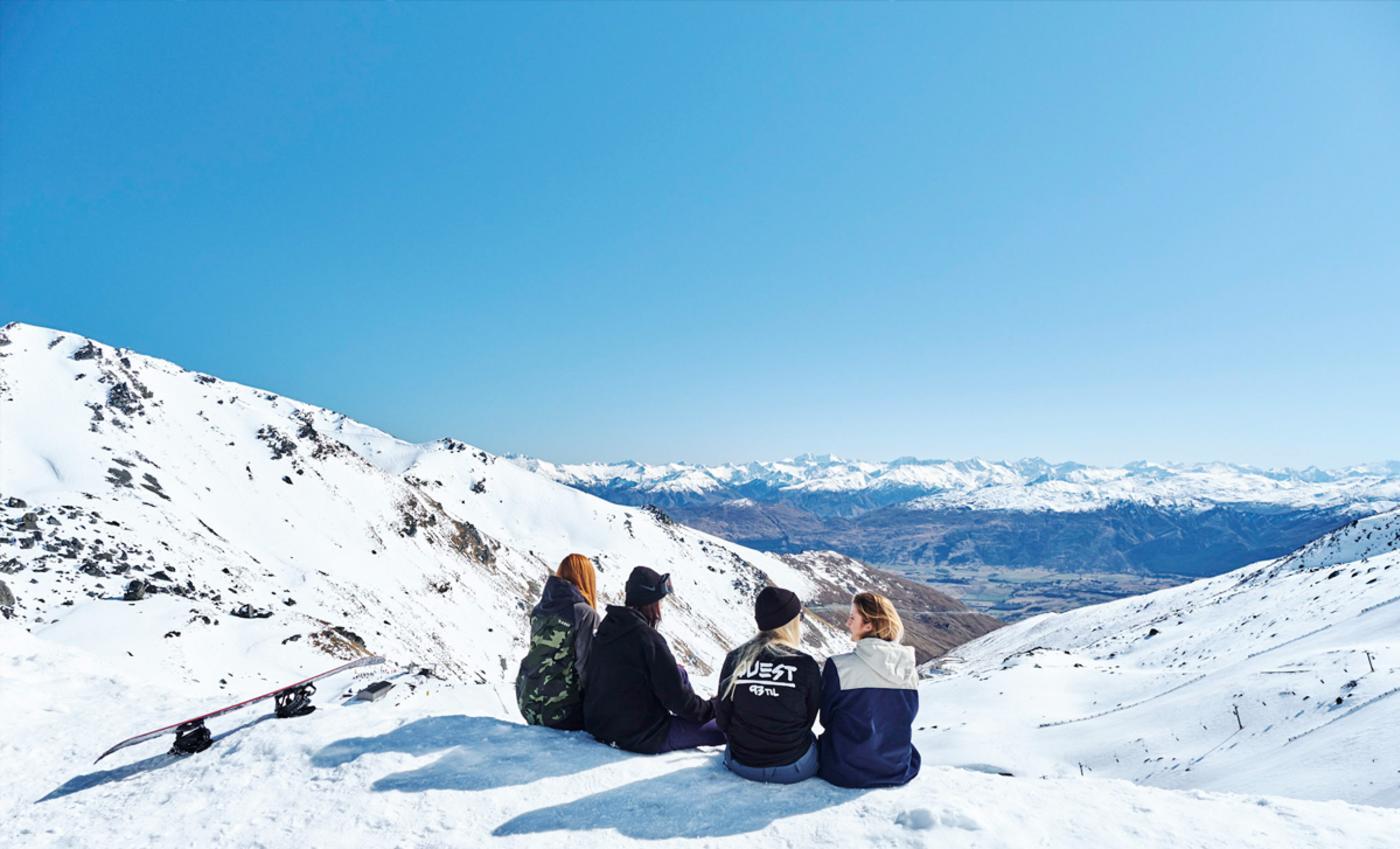 Apres Ski Remarkables Group of Friends