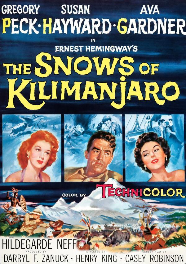 Movie Promo Poster for the Snows of Kilimanjaro.