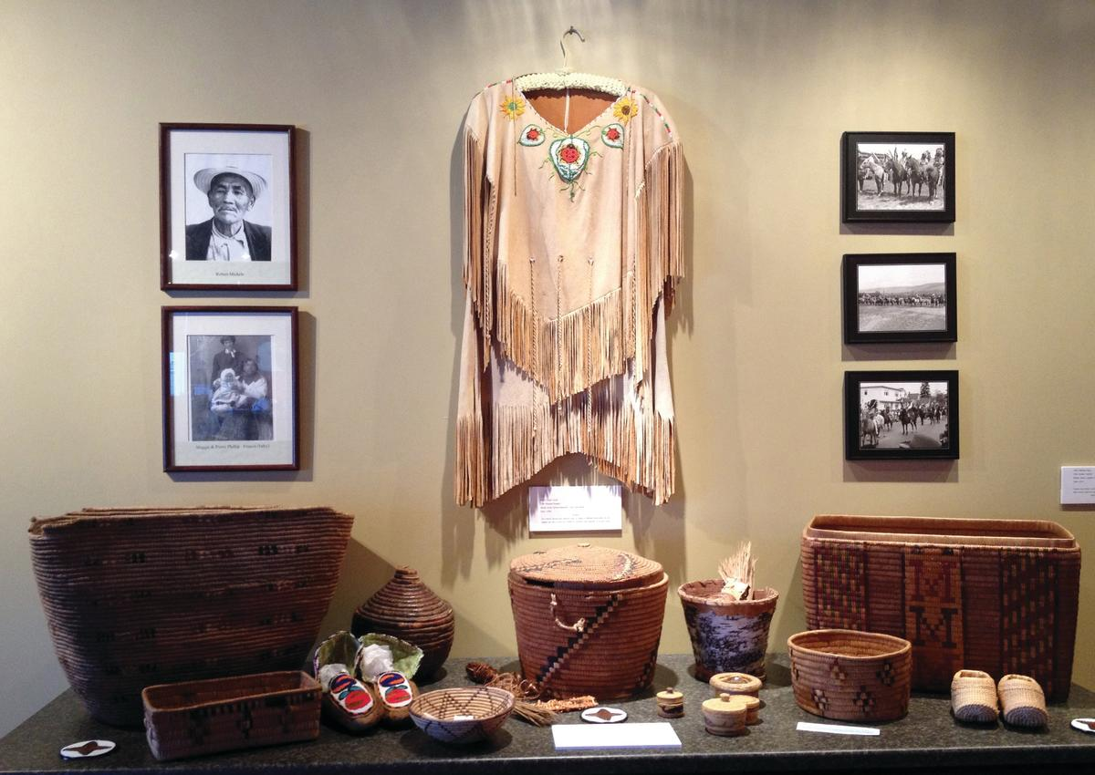 Items on display at the Sncəwips Heritage Museum in West Kelowna, BC