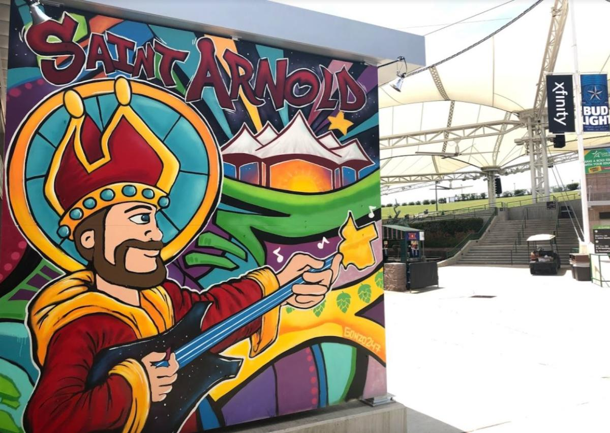 Saint Arnold Mural at The Pavilion