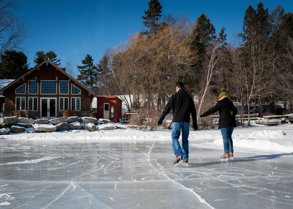 Ice Skating at Skytop Lodge in the Poconos