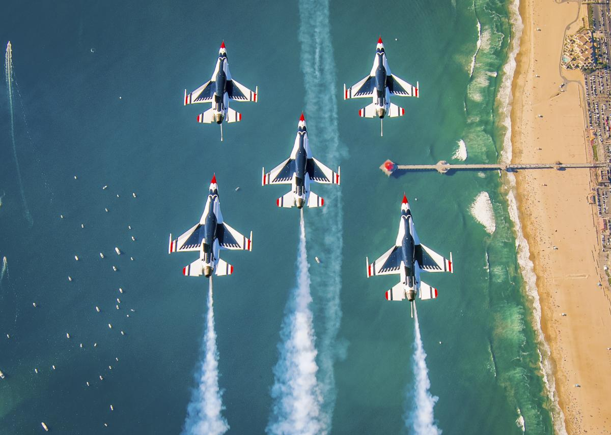The Thunderbirds at the Huntington Beach Airshow