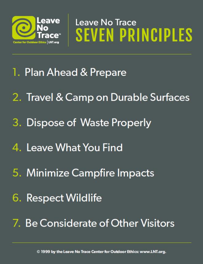 Leave No Trace 7 Principles