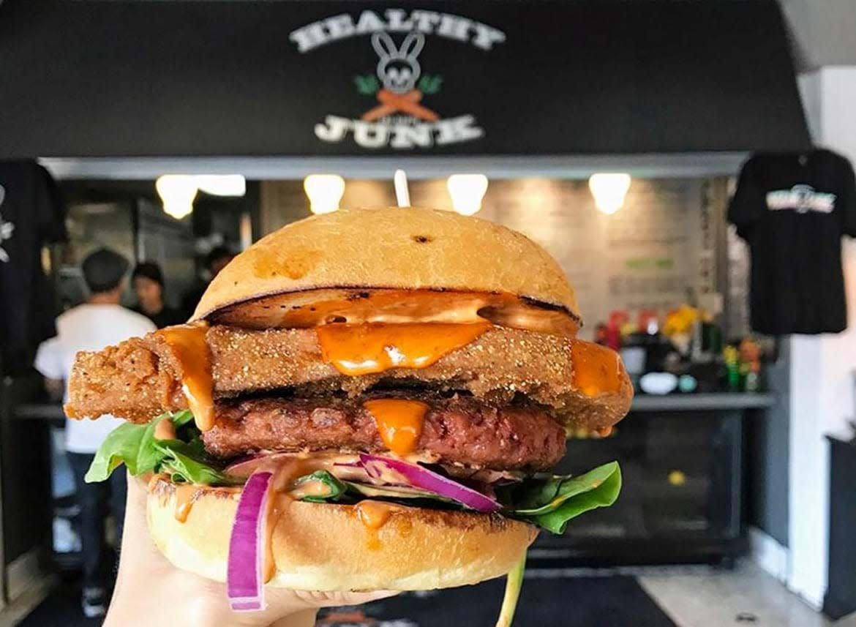 Healthy Junk veggie burger