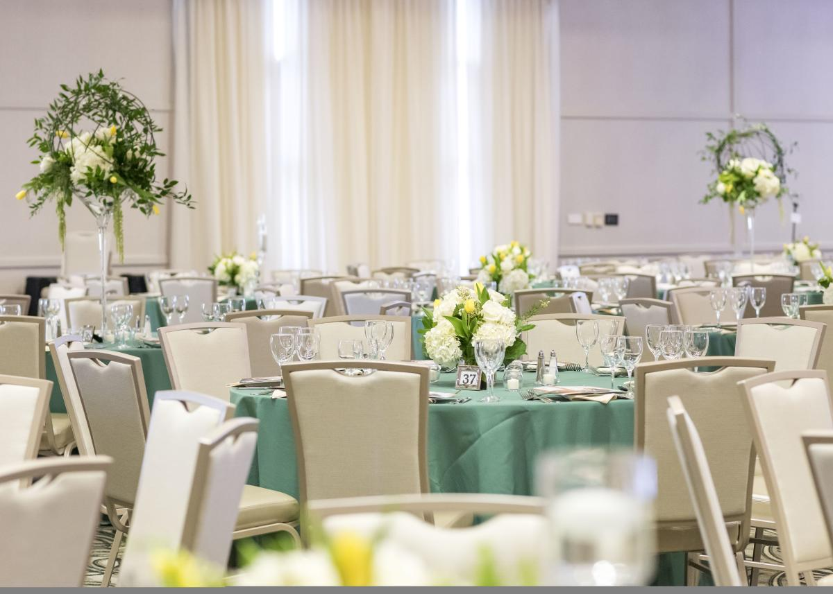 Photo of the banquet space at the Gillespie Conference Center