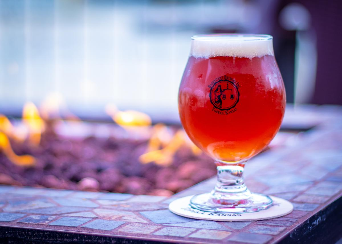 Barrister's Brewing - Beer on the patio in Topeka, KS
