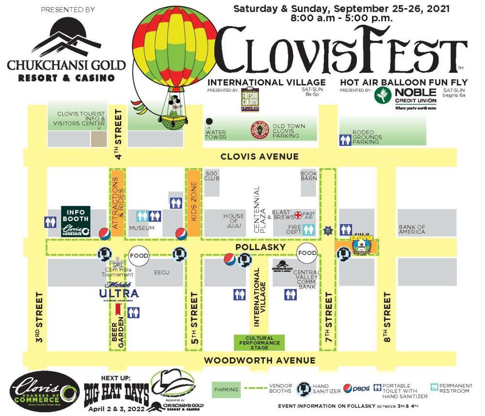 ClovisFest 2021 Map