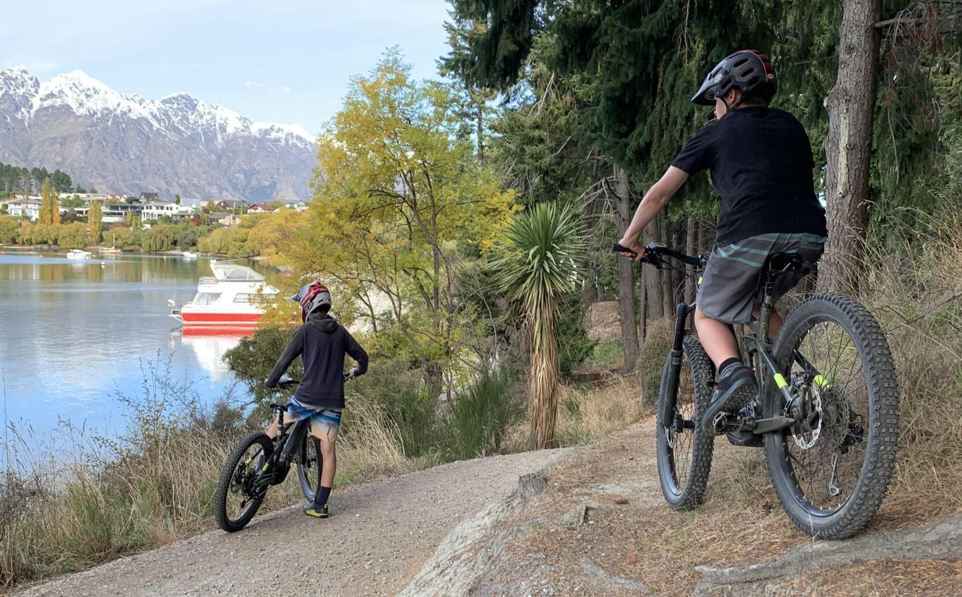 Rory & Toby Meek, Queenstown Gardens trail