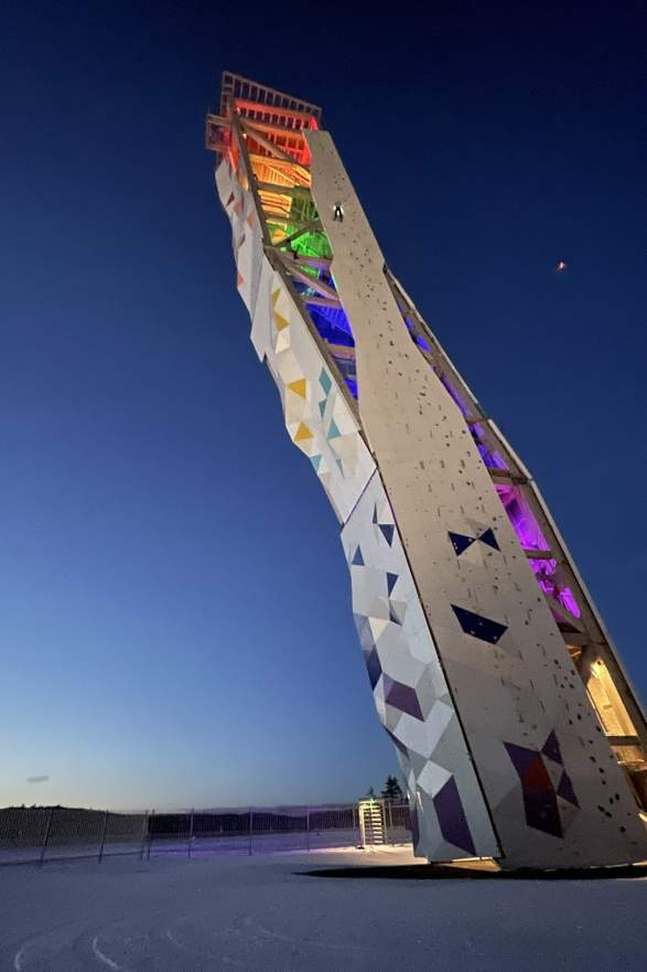 OVER climbing tower in Lillesand, Southern Norway