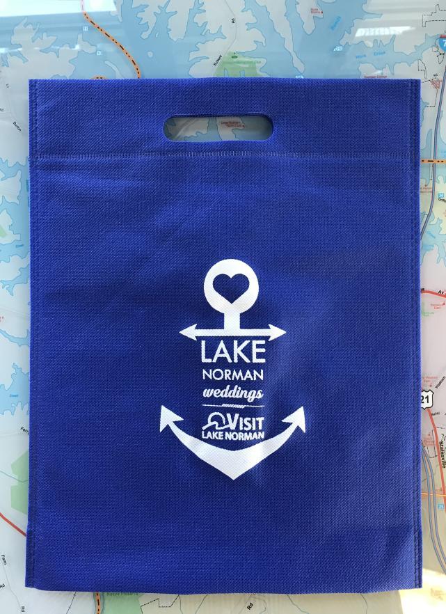 blue wedding bag, anchor, lake norman weddings