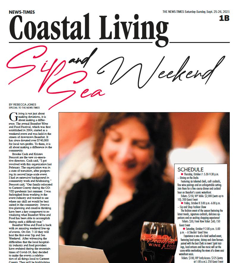 Carteret News Times Coastal Living Press Release Cover