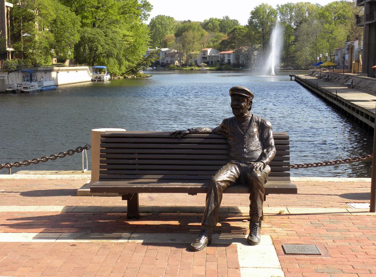 """Reston public art - """"Untold Stories"""" at Lake Anne Village Center"""