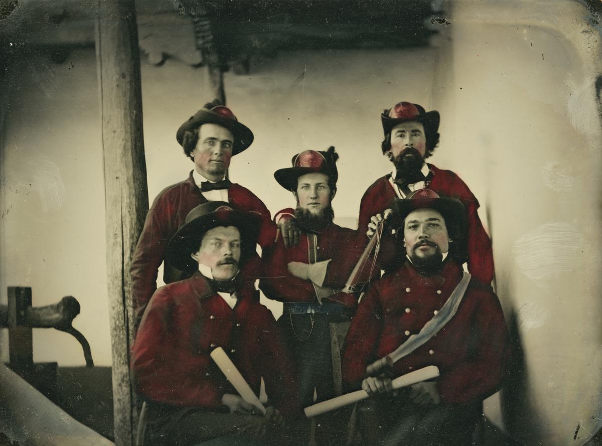 Santa Fe Fire Company, ca. 1861, New Mexico Magazine