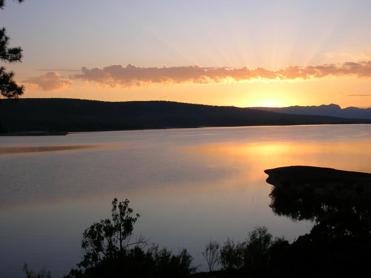 Sunrise at Heron Lake, sister lake to El Vado