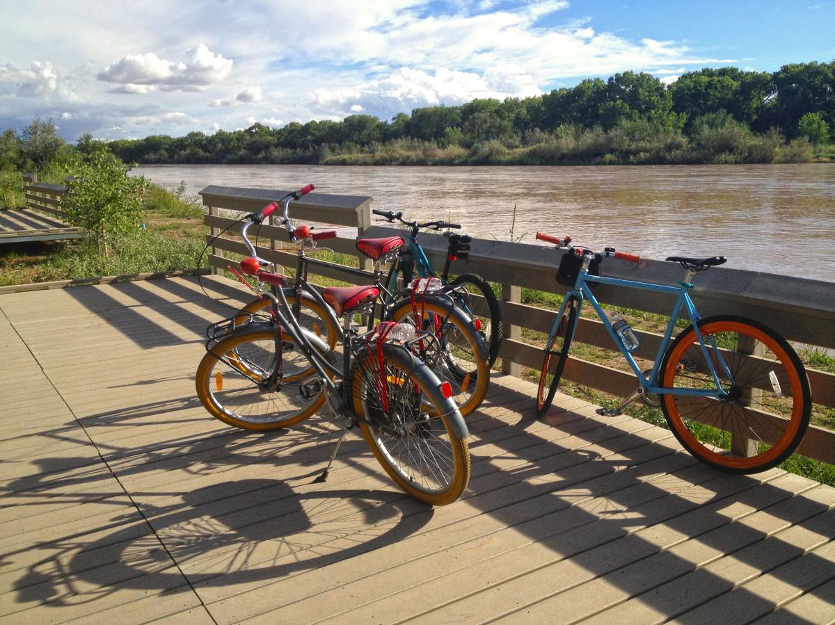 Bikes on the Rio Grande, Routes Bicycles