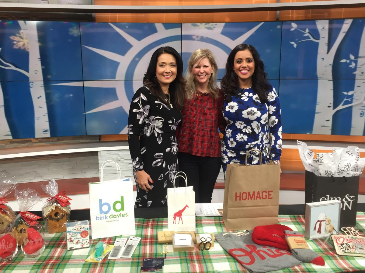 Easton's Jen Peterson films a holiday gifting segment at ABC6