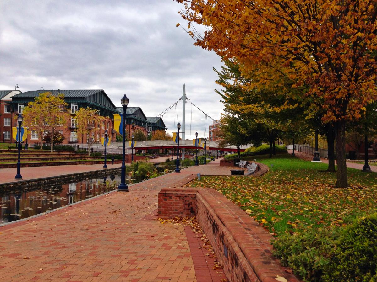 Fall foliage at Carroll Creek Park