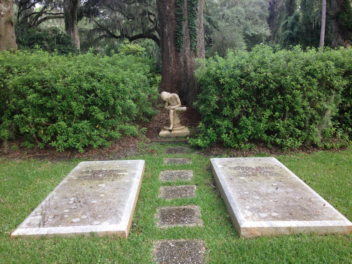 The Boy with the Thorn is one of the most popular statues to find in the historic Christ Church Cemetery on St. Simons Island, GA.