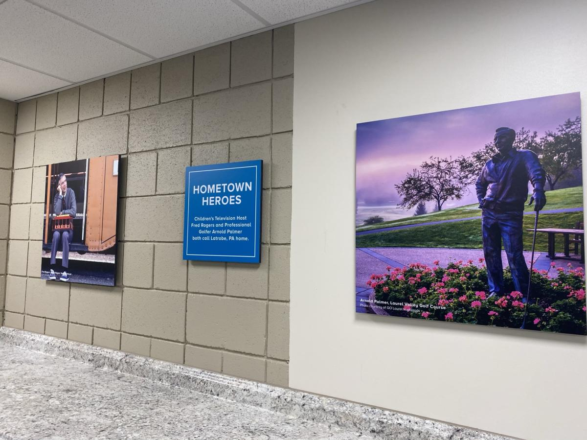 Latrobe's hometown heroes welcome passengers at Arnold Palmer Regional Airport