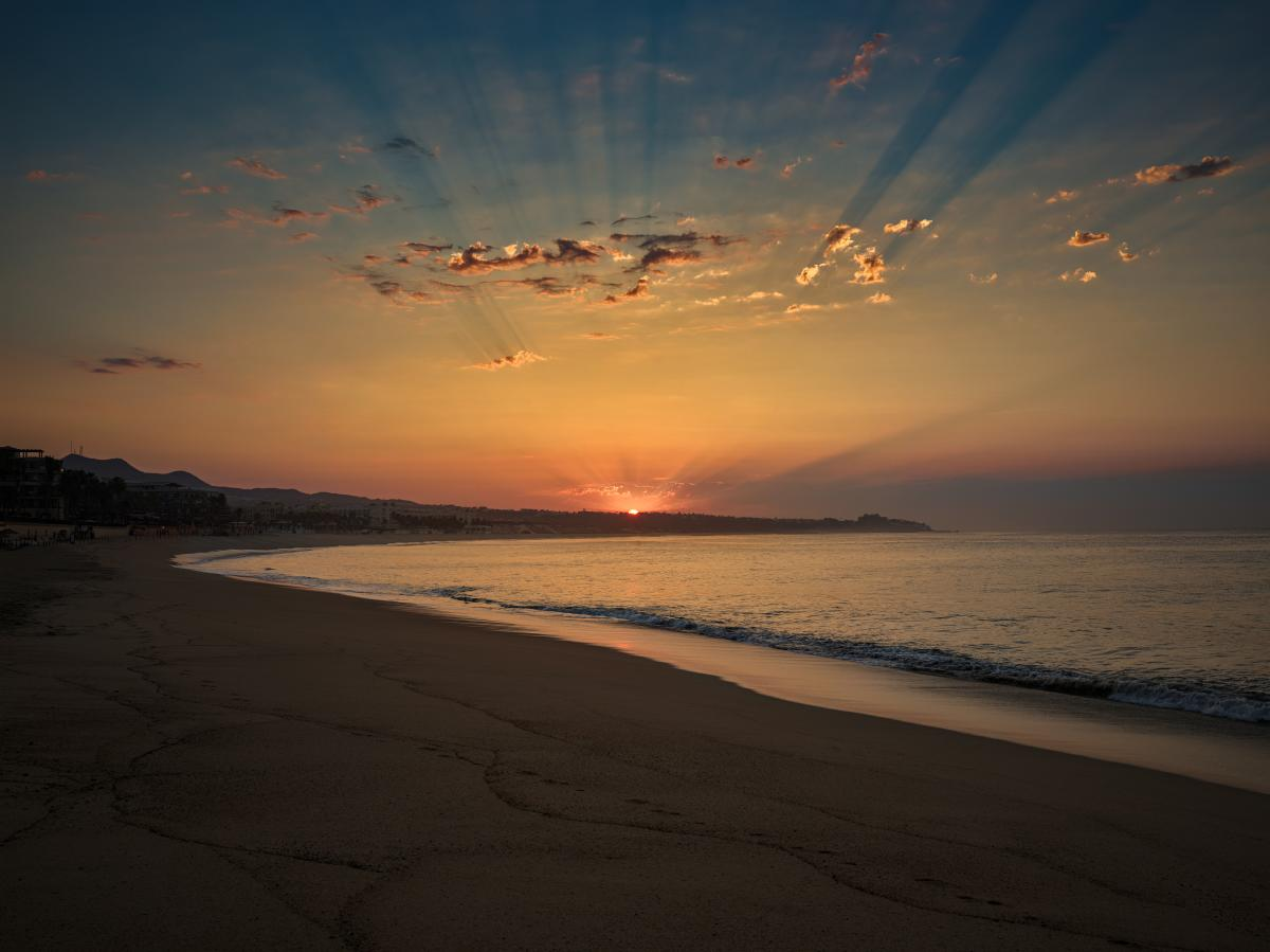 Medano beach sunset