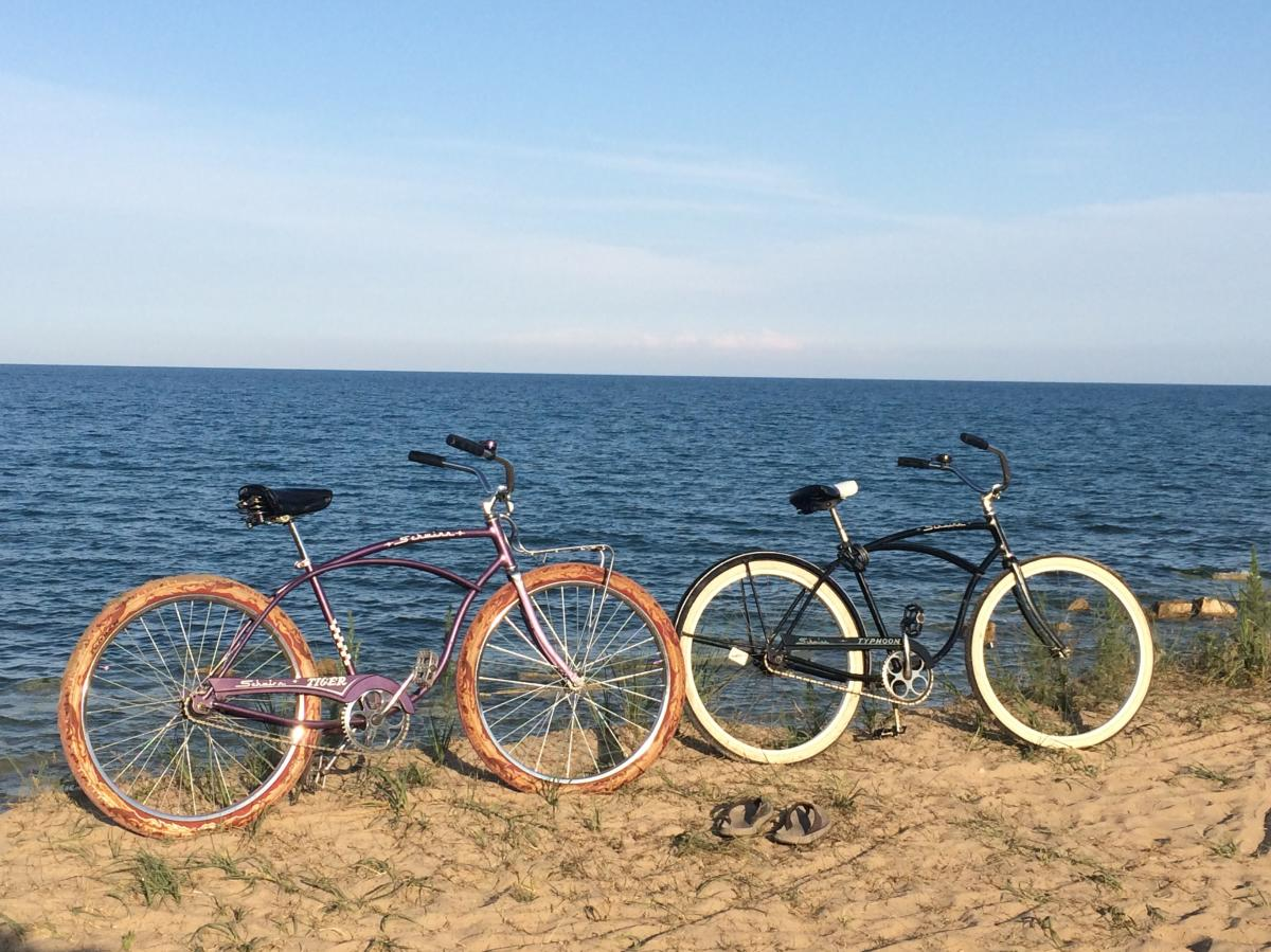 2020 Bikes on Lake Michigan Beach
