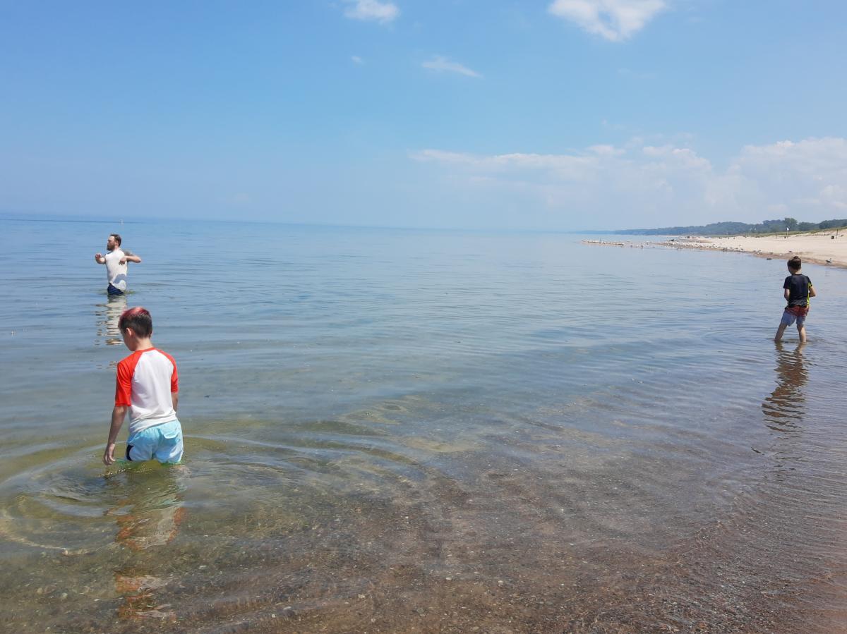 Yes Day in NWI - Lake Michigan beach
