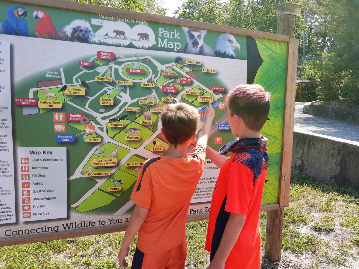 Yes Day in NWI - Washington Park Zoo map
