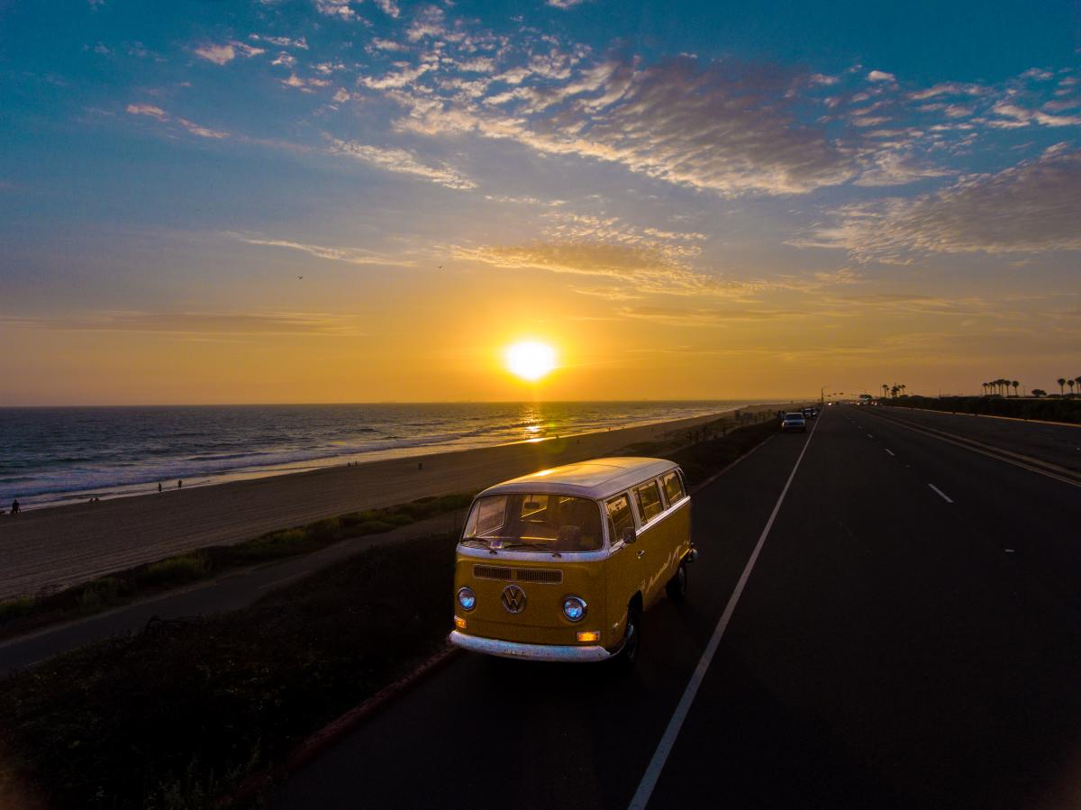 Volkswagen on Huntington Beach Pacific Coast Highway