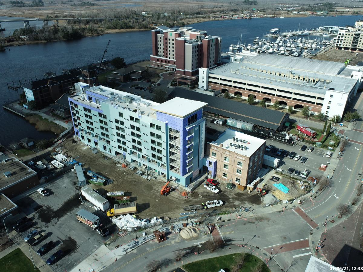 Aloft Hotel Wilmington Construction