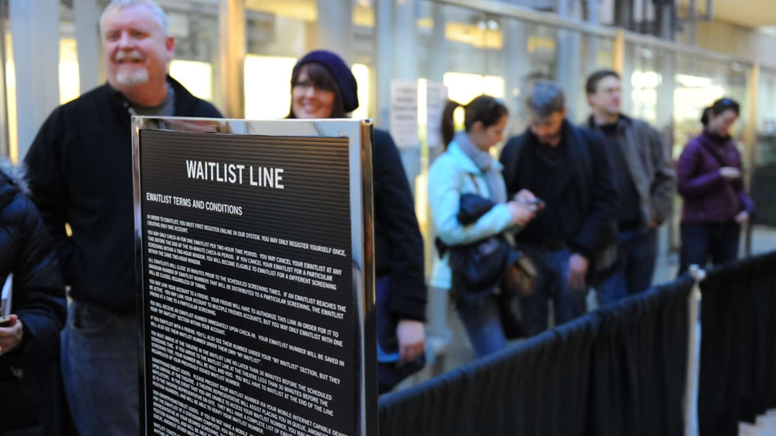 Waitlist Line at Sundance in Salt Lake